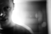Blurred Young Man, Head and Shoulders, Portrait