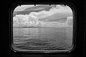 Seascape View Through Ship's Porthole
