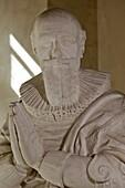 Portrait Of The Duc De Sully (1559-1641), Minister To King Henri Iv And Superintendent Of Finances, White Marble Tomb, Sculpture By Boudin, Nogent-Le-Rotrou, Eure-Et-Loir (28), France