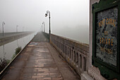 The Atmosphere Of The Briare Bridge-Canal Or Aqueduct In The Morning Fog, Loiret (45), France