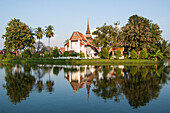 View Of A Temple In The Historical Park Of Sukhothai, Old City Listed As A World Heritage Site By Unesco, Thailand, Asia