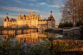 The Cosson Flowing Through The Park At The Renaissance-Style Chateau De Chambord, Loir-Et-Cher (41), France