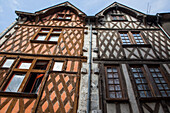 Half-Timbered Houses, The Street Rue Pardessus, Blois, Loir-Et-Cher (41), France