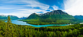 Scenic View Of Kenai Lake And River Above Cooper Landing, Southcentral Alaska