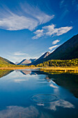 Scenic View Of The Kenai Mountains Reflected In Tern Lake During Fall On The Kenai Peninsula In Southcentral Alaska