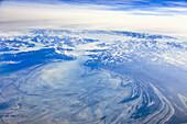 Aerial A Glacier North Of Juneau, Southeast Alaska, Summer