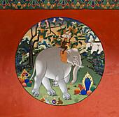 'China, Xizang, Wall painting; Lhasa, Drepung Monastery'