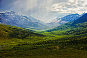 'Storm Clouds Over The Klondike Valley In Tombstone Territorial Park Near The End Of Dempster Highway;Yukon Canada'