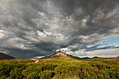 'Angelcomb Mountain Lit By Late Afternoon Light Along The Dempster Highway;Yukon Canada'