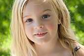 'Portrait Of Young Blonde Girl;Ontario Canada'