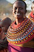 'Kenya, Women And Baby From Samburu Tribe; Samburu'