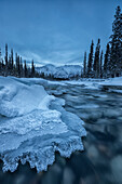 'Ice Forms On The Wheaton River Near Whitehorse;Yukon Canada'