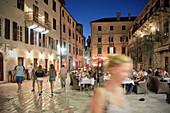People in the alleyways of the old town of Kotor, Adriatic coastline, Montenegro, Western Balkan, Europe, UNESCO