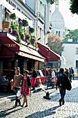Montmartre scene, Paris, France
