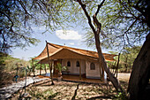 Luxury tented accommodation at Joy's Camp, Shaba National Reserve, Kenya