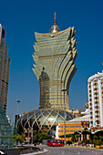 Gran Lisboa Casino, Macau, China, © Charles Bowman/Axiom