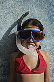 Young Girl In Snorkel And Mask, Jamaica.