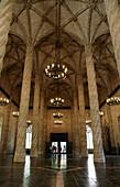 Interior of gothic La Lonja building (also know as Lonja de la Seda or Silk exchange), Valencia, Spain