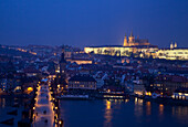 View over the Charles Bridge towards the Mala Strana District of Prague, Czech Republic, Europe © Mark Thomas / Axiom