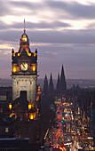View of Princes Street, Edinburgh, Scotland, UK