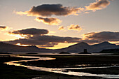 Castle Stalker at dusk, Appin, Argyll and Bute, Scotland, UK