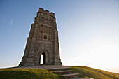 Paul, Quayle, nobody, Outdoors, Day, Low Angle View, Copy Space, Sunlight, Building Exterior, Architecture, Arch, Clear Sky, Tower, Place Of Interest, Local Landmark, Glastonbury, Somerset, England, UK, Steps, Majestic, Gate, British Culture, Nobody, Open