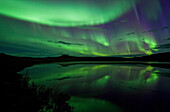 Aurora Borealis Over Two Moose Lake Dempster Highway, Yukon Canada