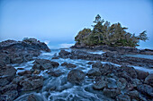 The Ocean At Dawn During A Winter Storm, Tofino Vancouver Island British Columbia Canada