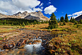 A Small Stream Enroute To Baker Lake Flows Through The Skoki Wilderness In Banff National Park, Banff Alberta Canada