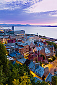 Quartier Petit Champlain At Dusk, Quebec City Quebec Canada