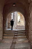 View of walkway in Old City, Jerusalem, Israel