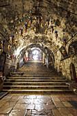 Interior of Church of the Sepulchre of Saint Mary near Jerusalem, Kidron Valley, Israel