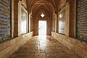 Interior of Church of Pater Noster at Mount Of Olives, Jerusalem, Israel