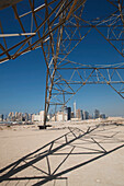 Electricity pylon, Dubai, United Arab Emirates