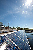 Solar power system at a sewage treatment, Weiz, Styria, Austria
