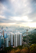 Cityscape with high-rise buildings, Hong Kong, China