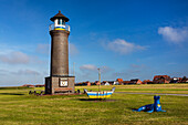 Lighthouse, Juist Island, Nationalpark, North Sea, East Frisian Islands, East Frisia, Lower Saxony, Germany, Europe