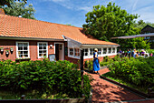 Tea house, Luetje Teehuus, Juist Island, Nationalpark, North Sea, East Frisian Islands, East Frisia, Lower Saxony, Germany, Europe