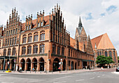 Old City Hall and parish church, Hannover, Lower Saxony, Germany