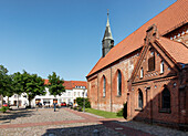 City Church at the Market, Krakow at the Lake, Mecklenburg-Western Pomerania, Germany