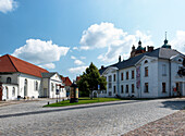 Franz-Parr Square, Ernst-Barlach Theatre, Museum, Guestrow, Mecklenburg-Western Pomerania, Germany