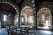 Inside the Church of St. Peter, Portovenere, province of La Spezia, Liguria, Italia