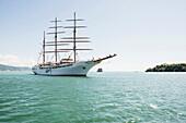 Sailing ship, Portovenere, Province of La Spezia, Liguria, Italia