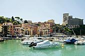 Harbour and castle, Lerici, province of La Spezia, Liguria, Italia