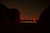 Wadi Rum at night, Jordan, Middle East