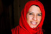Portrait of a young Bedouin woman, Wadi Rum, Jordan, Middle East