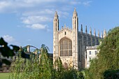 Kings college chapel bathed in sunset light, Cambridge, England
