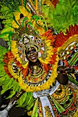 Costumed dancers celebrate the New Year with the Junkanoo Parade on January 1, 2013 in Nassau, Bahamas  The carnival like festival is celebrated in the early hours of the New Year lasting until the late morning and dates back to slavery days