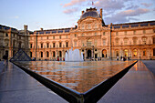 Louvre in the evening light, Paris, France, Europe