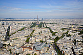 View from Tour Montparnasse, Paris, France, Europe